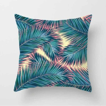 Vintage Flower Tropical Leaves Pillow Case Cushion Cover Home Decor#18 - intl