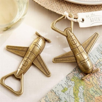 Vintage Gift Party Favors Bottle Opener Wedding Airplane Wine Beer- intl