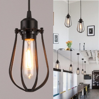 Vintage Light Retro Industrial Metal Shade Ceiling Pendant Lamps Edison Bulb - intl