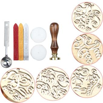 Vintage Personalized Wax Seal Stamp Spoon Set Love Letters Style - intl - 5