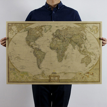 Price vintage style paper poster log the world map decor giant chart detail images vintage style paper poster log the world map decor giant chart the atlas intl ubdate gumiabroncs Choice Image