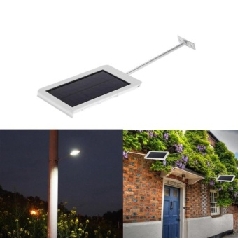 VOYAGE 15 LEDs Solar Powered Ultra-thin Outdoor Security LightWater-resistant Wall Street Light Garden Pathway Lamp   - intl