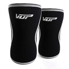 e85b0fd79c VUP Pair of Knee Sleeve Weightlifting Strong Support for Cross Training  Squats Powerlifting Gym Workout - 7mm Knee Neoprene Sleeve Men & Women Knee  Braces ...