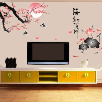 Wall adhesive paper bedroom living room TV backdrop