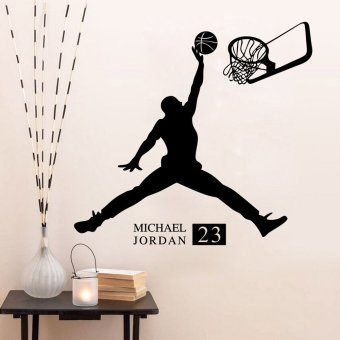Wall Decals Playing Basketball Boy PVC Wall Stickers