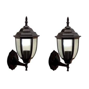 WALL LAMP (BLACK) SET OF 2 L:155MM H:400MM W:190MM ALUMINUM DIE CASTING BODY