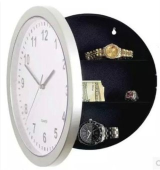 Wall Safe Clock, Wall Clocks With Hidden Compartment Secret StashBox. Functioning Kitchen Clock To STASH CASH In The Secret Place. -intl - 2