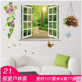 Wall stickers wall wallpaper posters 3D(Width 107CM * high about77CM) - intl