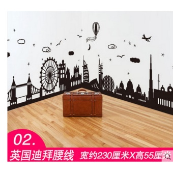 Wall stickers wall wallpaper posters 3D(Width 230CM * high about55CM) - intl