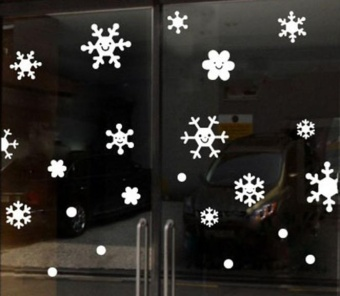 Wall Window Stickers Angel Snowflake Christmas Xmas Vinyl Art Decoration Decals - intl