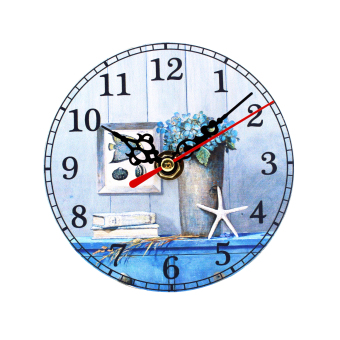 Wallmark Beach Cabin Table Clock
