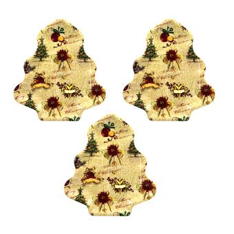 "Wallmark ""Christmas Bells"" Christmas Tree Shape Tray set of 3"