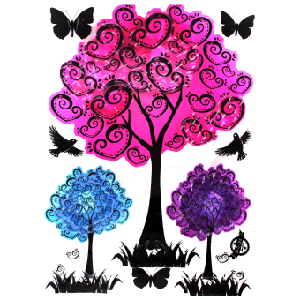 """Wallmark """"Colorful Tree"""" 3D Wall Sticker - picture 2"""