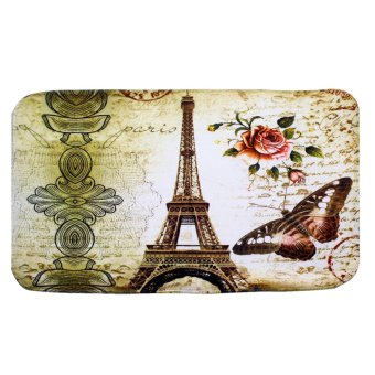 Wallmark Eiffel Tower Bathroom Floor Mat Set - 3