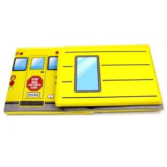 Wallmark Foldable Ottoman School Bus Storage Box Chairs (Yellow) - 5