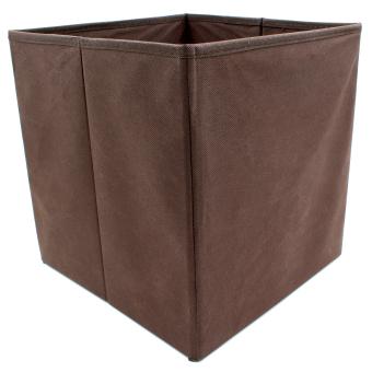 Wallmark Linen Fabric Ottoman Storage Box Chairs (Barleycorn) - 3