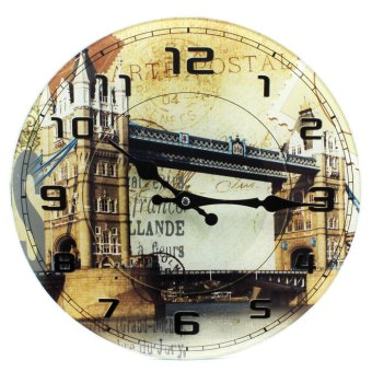 Wallmark London Bridge Tempered Glass Creative Wall Clock Price Philippines