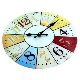 Wallmark Roulette Tempered Glass Creative Wall Clock - picture 2
