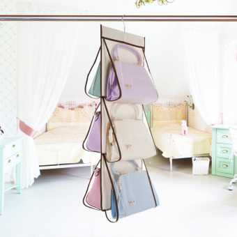 Wardrobe hanging-bag storage bag finishing storage hanging bag
