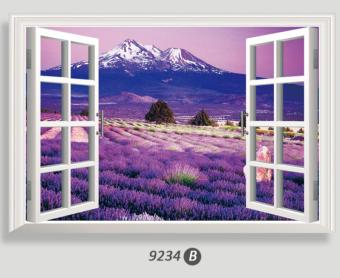 Warm and romantic multi-3D fake window wall stickers