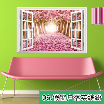 Warm bedroom living room 3D wall sticker
