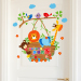 Warm Cartoon children's room bedroom room door adhesive paper wall stickers
