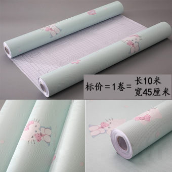 Warm dormitory girl's living room bedroom adhesive paper Bizhi