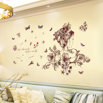 Warm indie dormitory girl's dormitory wall adhesive paper Bizhi