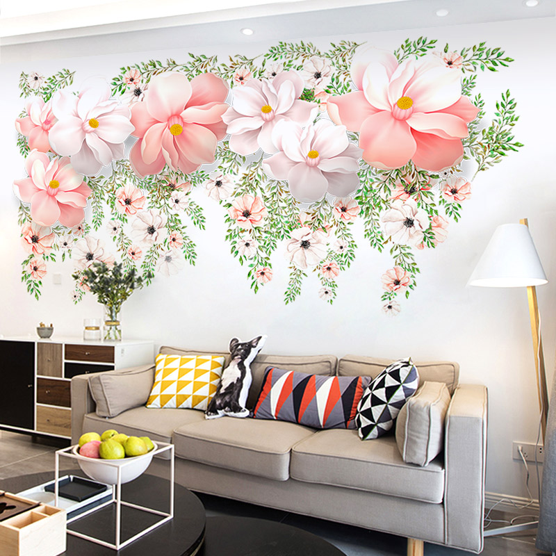 Warm Indie Living Room Wall Painting Adhesive Paper Sticker