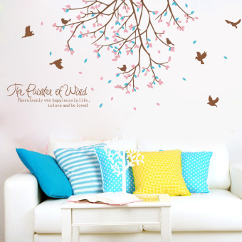 Warm wallpaper self-adhesive bedroom girl's wall sticker