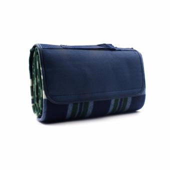 Waterproof Outdoor Beach Picnic Camping Mat Blanket Blue greenPlaid