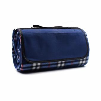 Waterproof Outdoor Beach Picnic Camping Mat Blanket Blue Plaid