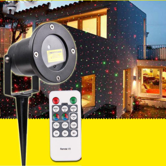 Waterproof Outdoor Landscape Lawn Projector R&G Stars Laser Light w/ Remote - intl