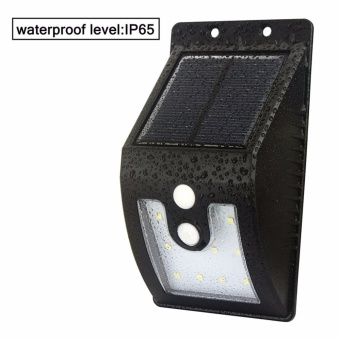 Waterproof Security Outdoor Light With 3 Intelligent Modes Super Bright Solar Motion Sensor Garden Wall Lamp 10LED And 16LED Available (10 leds) - intl