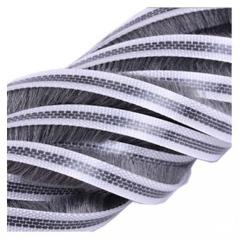 Weather Strip Adhesive Sealing Brush Sliding Sash Door Window Seals10 Meters 5 X 12MM Grey - intl