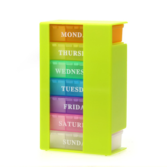Weekly 7 Days Colorful Pill Box Medicine Storage Organizer HolderKit