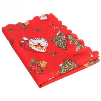 weisizhong Christmas Tablecloths Table Covers Decoration Dining Table Linens Decor Party Christmas Ornament,#04 - 3