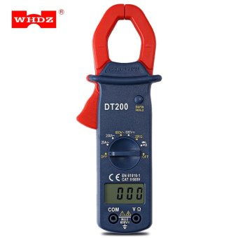 WHDZ DT200 Digital AC Clamp Meter Current Voltage Capacitor Resistance Tester (Red) - intl
