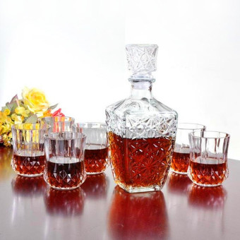 Whiskey Liquor Wine Decanter Crystal Glass (Clear) - intl