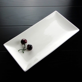 White environmentally friendly ceramic plate Rectangular Plate