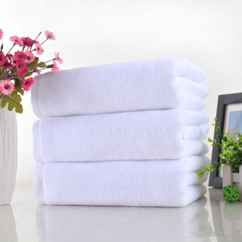 White extra-large thick spa white towel cotton Bath towel