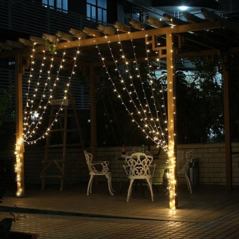 Wintin 4.5M x 3M 300 LED Icicle String Lights Christmas xmas Fairy Lights Outdoor Home For Wedding/Party/Curtain/Garden Decoration - intl - picture 2