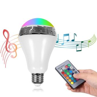 Wireless Bluetooth 2.1 Smart Music Audio Speaker LED Bulb WithRemote Control - intl
