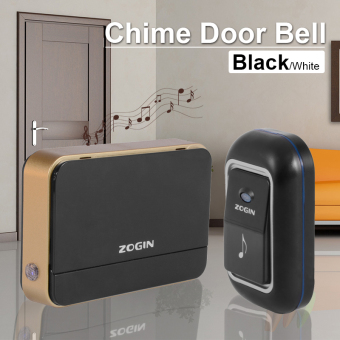 Wireless Chime Door Bell Doorbell Remote Control 16 Tune Song Home Black AH217