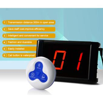 Wireless Paging System Waiter Calling System Restaurant Pager Service Hospital KTV 1 Panel With 10 Pcs Call Button - 4