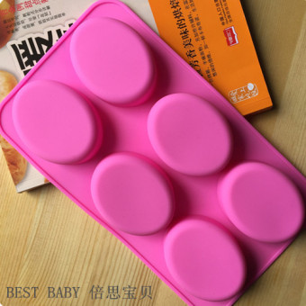 With big silicone oval baking handmade soap Mold