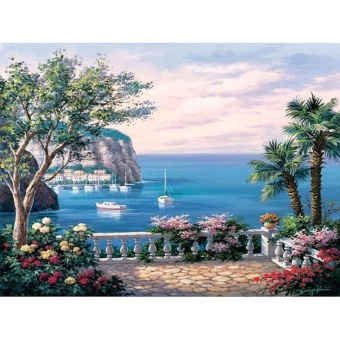 With Frame Harbor Landscape DIY Painting By Numbers Kits AcrylicHand painted Oil Painting On Canvas For Home Wall Art Picture -intl