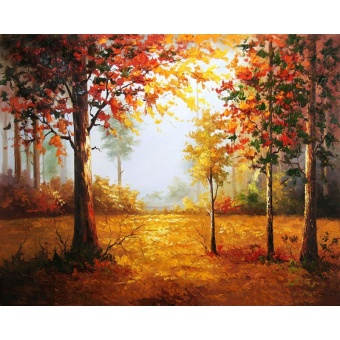 With Frame Landscape Forest Diy Digital Painting By Numbers KitsHand Painted Oil Painting For Home Wall Art Picture 40x50cm Arts -intl