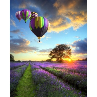 With Frame Romantic Balloon Landscape DIY Painting By NumbersModern Wall Art Hand Painted Oil Painting For Home Decor Artwork -intl
