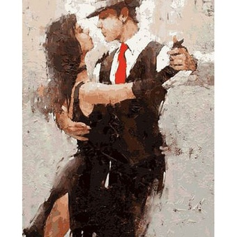 With Frame Tango Dancer DIY Painting By Numbers Figure PaintingModern Wall Art Canvas Unique Gift For Home Decoration 40x50cm -intl